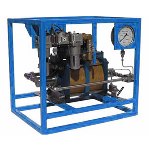 twin double acting air driven hydrostatic pressure testing pumps | patriot international